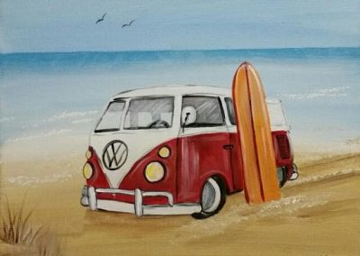 RED BUS- SURF'S UP!