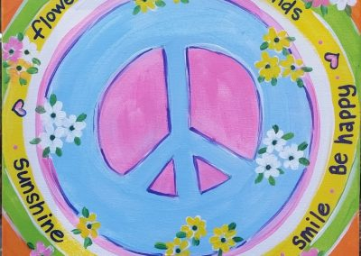 A-0014 HIPPY BIRTHDAY PEACE SIGN