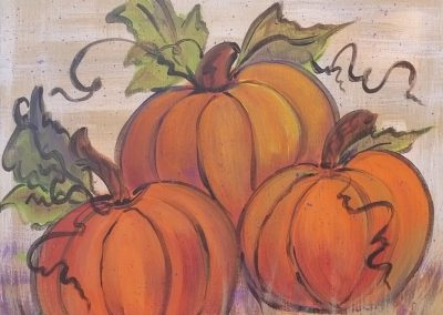 F-0029 THREE FALL PUMPKINS