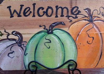 WELCOME SIGN-PUMPKINS