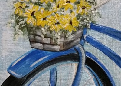 S-0045 BASKET OF DAISIES