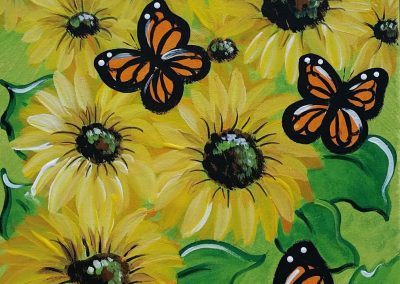 BUTTERFLIES AND SUNFLOWERS