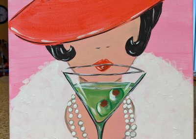 PARTY GIRL - Martini 12x12