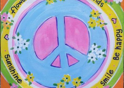 A-0014 HIPPY BIRTHDAY PEACE SIGN