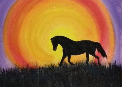 A-0008 Stallion at Sunset