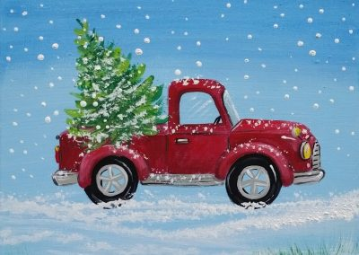 W-0060 OLD FASHIONED CHRISTMAS (TRUCK & TREE)