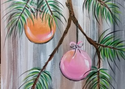 W-0061 MERRY AND BRIGHT ORNAMENTS