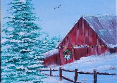 W-0066 CHRISTMAS BARN